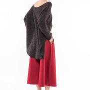 Seville burgundy jupe culotte back