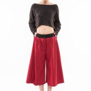 Seville burgundy jupe culotte front