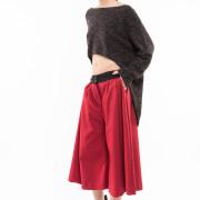 Seville burgundy jupe culotte side