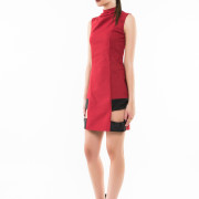 Montmartre tight fit sleeveless dress side