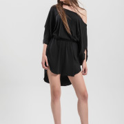 H-era black loose dress