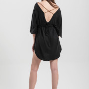 H-era black loose dress back