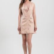 H-era pink wrap dress