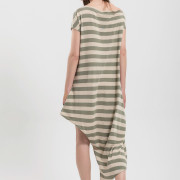 H-era striped jumpsuit dress back