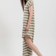 H-era striped jumpsuit dress side