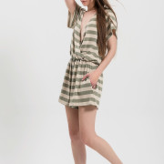 H-era knitted striped playsuit side