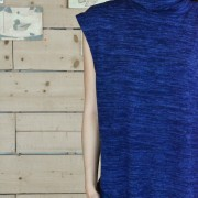 h-era long knitted flannel dress detail