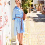 h-era baby blue shirt dress side