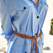 h-era baby blue shirt dress detail