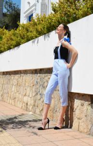 h-era baby blue pants side