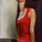 hera red mini dress