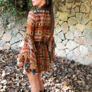 hera boho mini dress