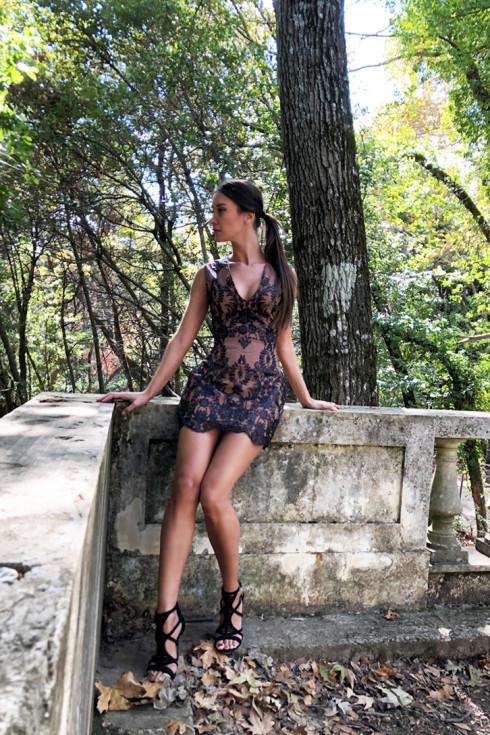 hera glitter lace dress
