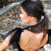 hera black fringed dress
