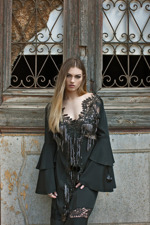 hera maxi boho black dress