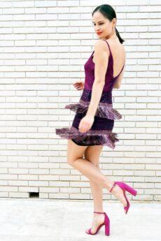h-era mini fringes dress