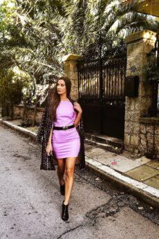 h-era lilac dress