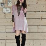 h-era pink velvet dress front