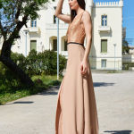 h-era maxi nude dress