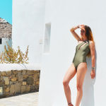 h-era one shoulder one piece swimmsuit