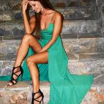 maxi emerald dress