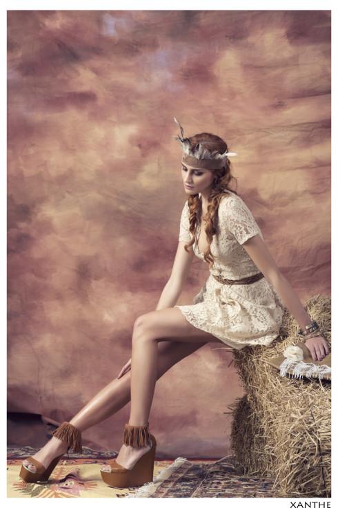 Xanthe ivory lace dress