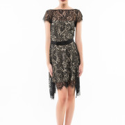 Saint Germain open back lace dress front