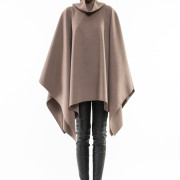 Balzac oversized turtle neck cape front