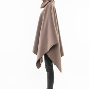 Balzac oversized turtle neck cape side