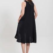 H-era asymmetrical black dress back
