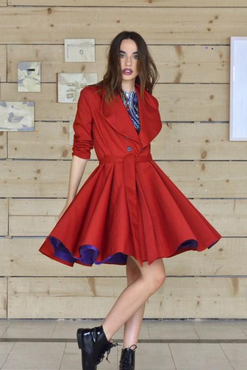 h-era burgundy overcoat front