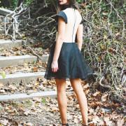 h-era mini black dress back