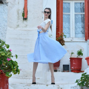 h-era baby blue skirt front