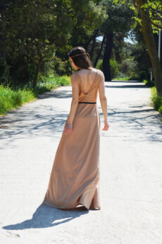 h-era maxi nude dress detail back