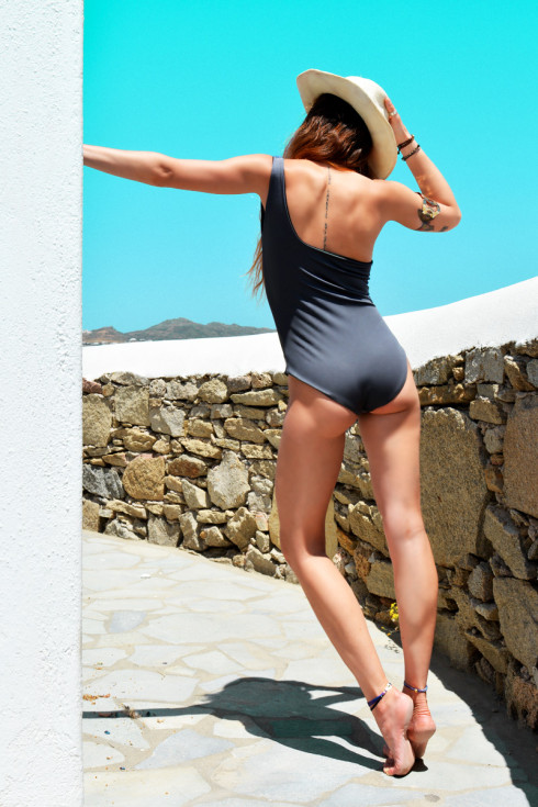 h-era one piece swimsuit back