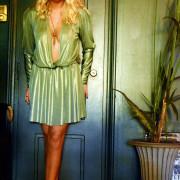 h-era metallic mini dress