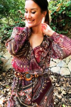 hera boho printed dress