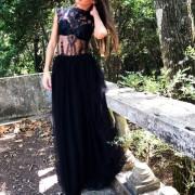 hera maxi glitter lace and tulle dress
