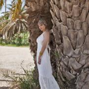 hera maxi white lace dress