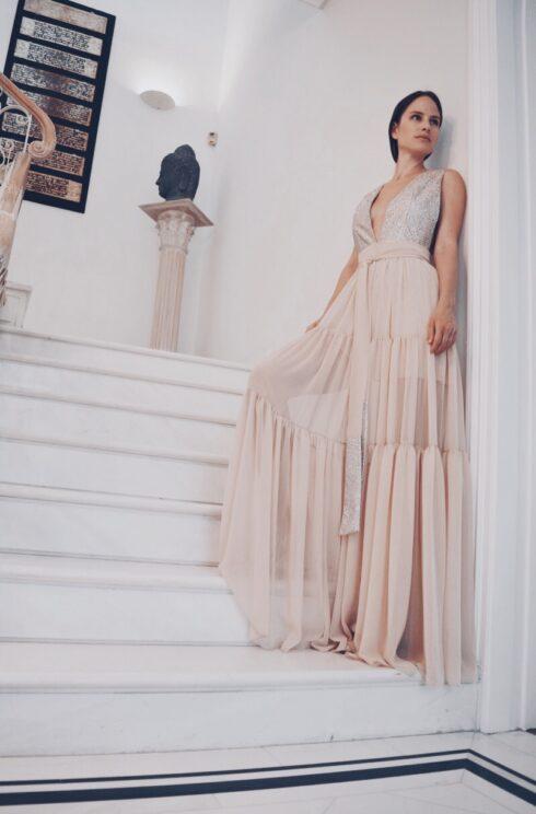 hera glitter wedding dress