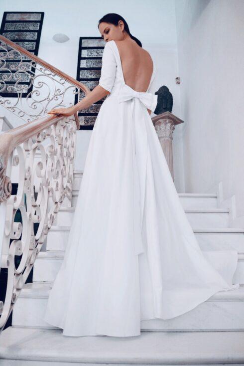 hera white long wedding dress