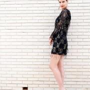 h-era mini sequin dress