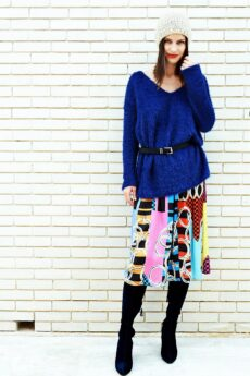 h-era printed skirt