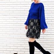 h-era mini sequin skirt