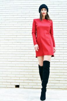 h-era mini burgundy dress