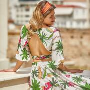 h-era tropical prints twin set
