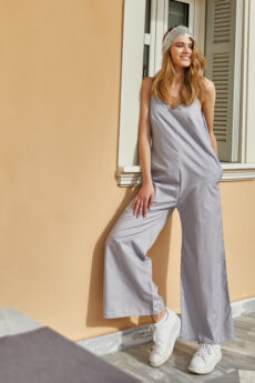 h-era light blue jumpsuit