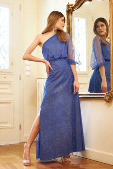 h-era maxi blue dress