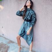 h-era grey metallic dress