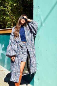 h-era oversized prints coat
